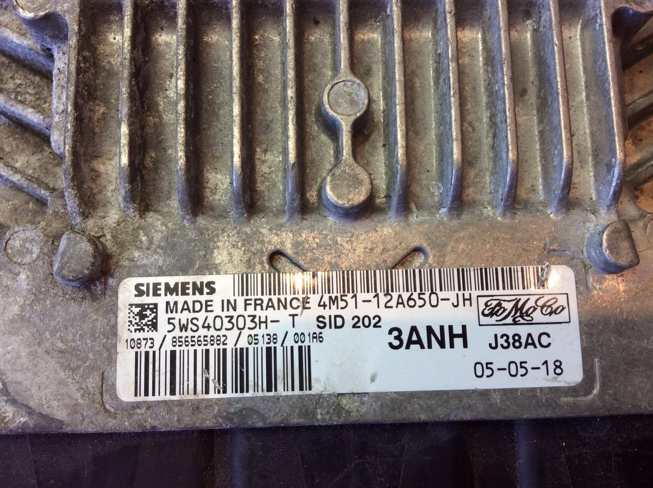 Plug & Play Ford Focus 1 8 TDCI, Siemens Engine ECU, SID202, 5WS40303H-T,  4M51-12A650-JH, 3ANH