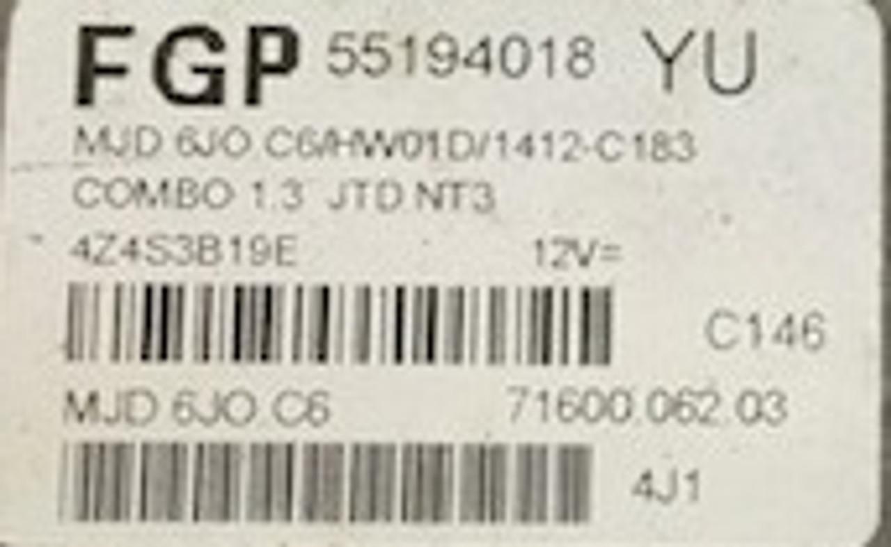 Vauxhall / Opel, MJD 6JO.C6 55194018YU 55194018 YU FGP 71600.062.03