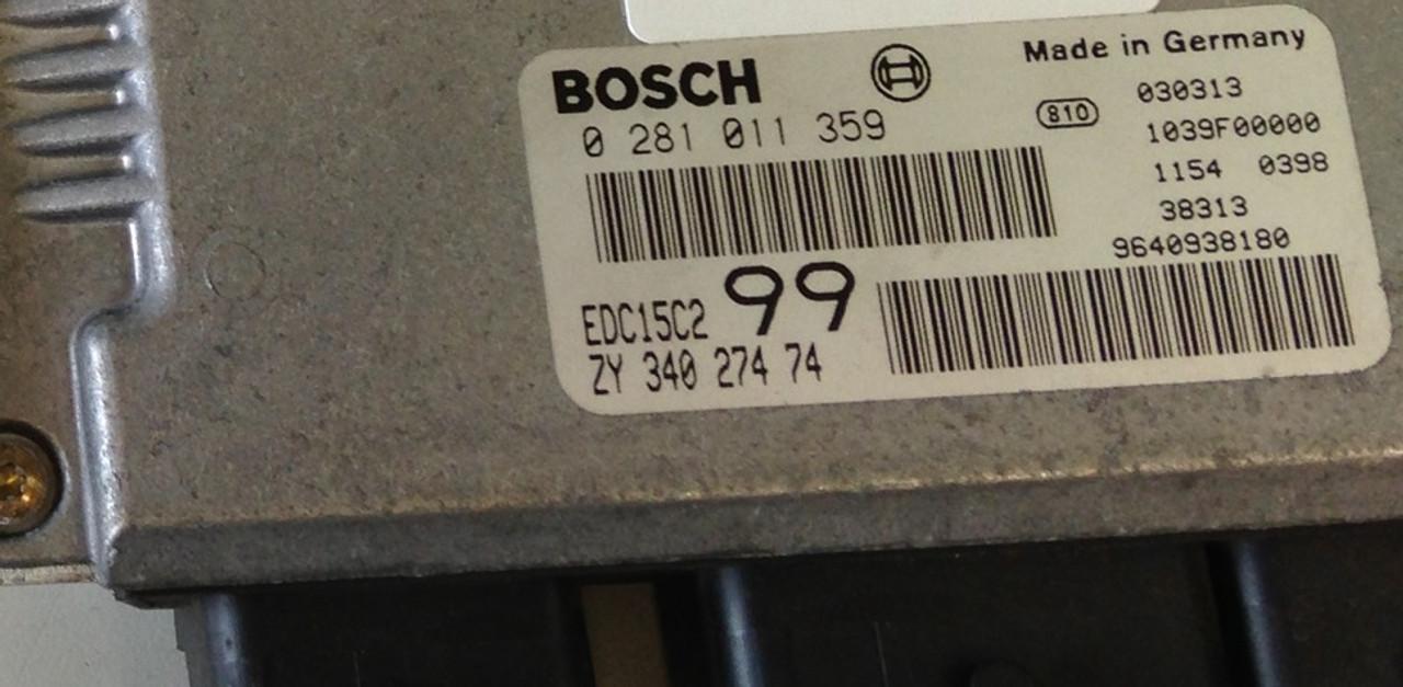 Plug & Play Bosch Engine ECU HDI  0281011359 0 281 011 359 ZY34027474 EDC15C2 99