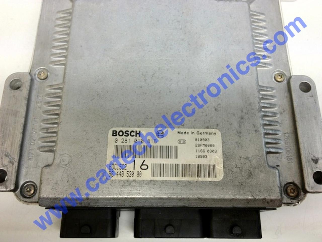 Citroen Jumpy 2.0HDi Peugeot Expert 2.0 HDi 0281010816 9644853080 0 281 010 816 96 448 530 80 EDC15C2