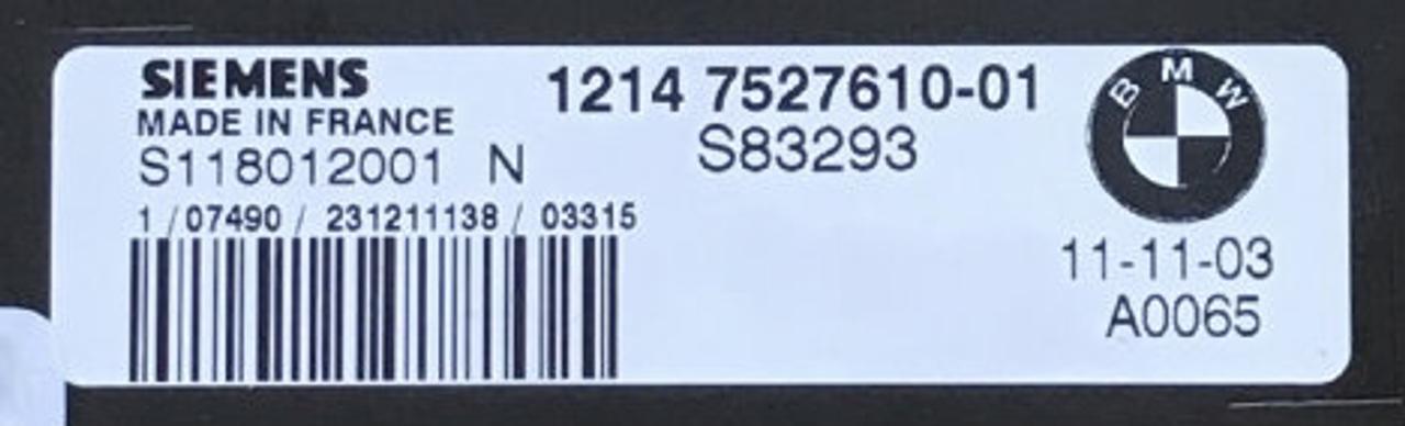 Plug & Play MINI Siemens Engine ECU ,S118012001 N, 1214-7527610-01, S83293