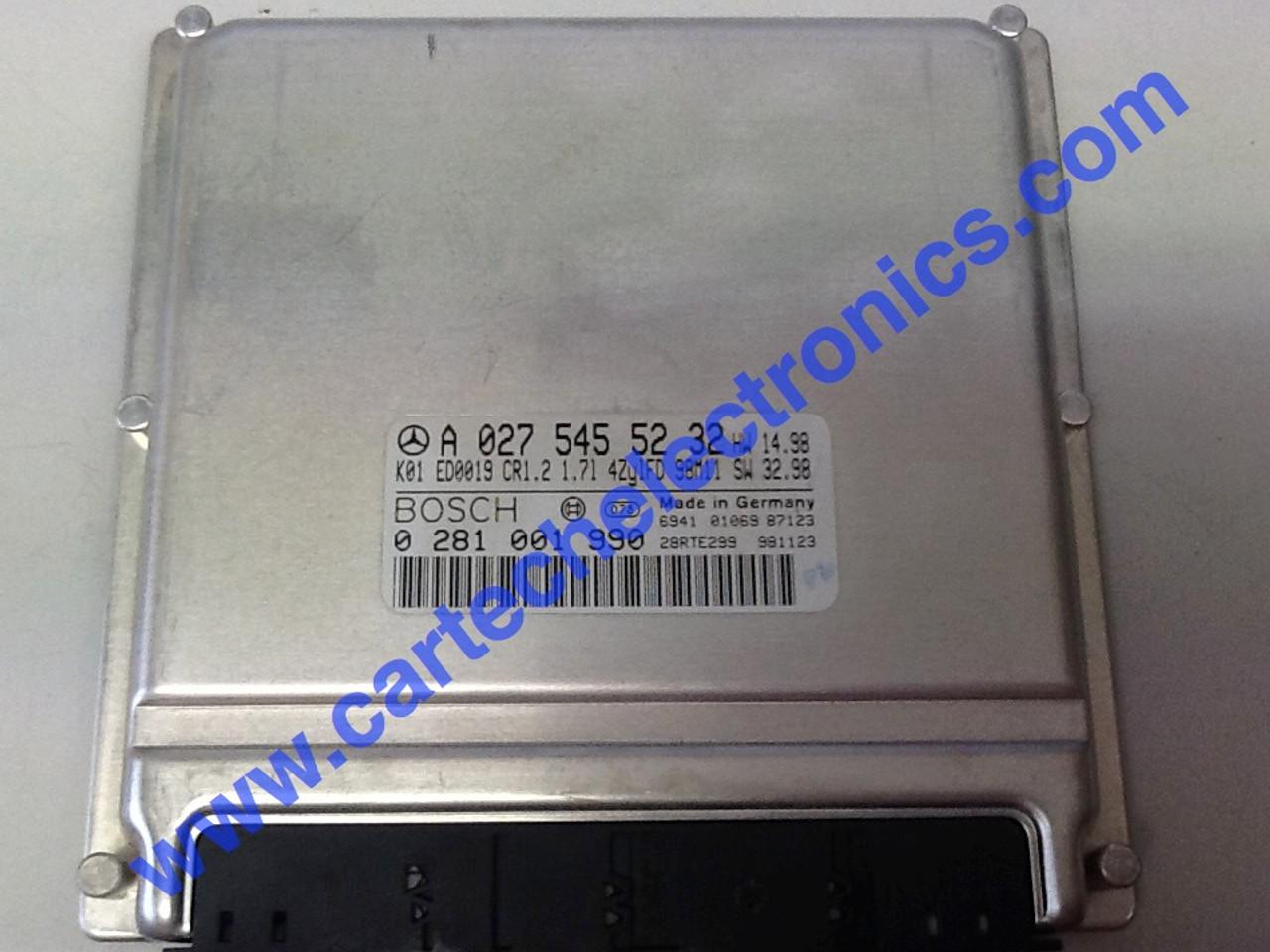 Plug & Play Mercedes Engine ECU 0281001990 A0275455232