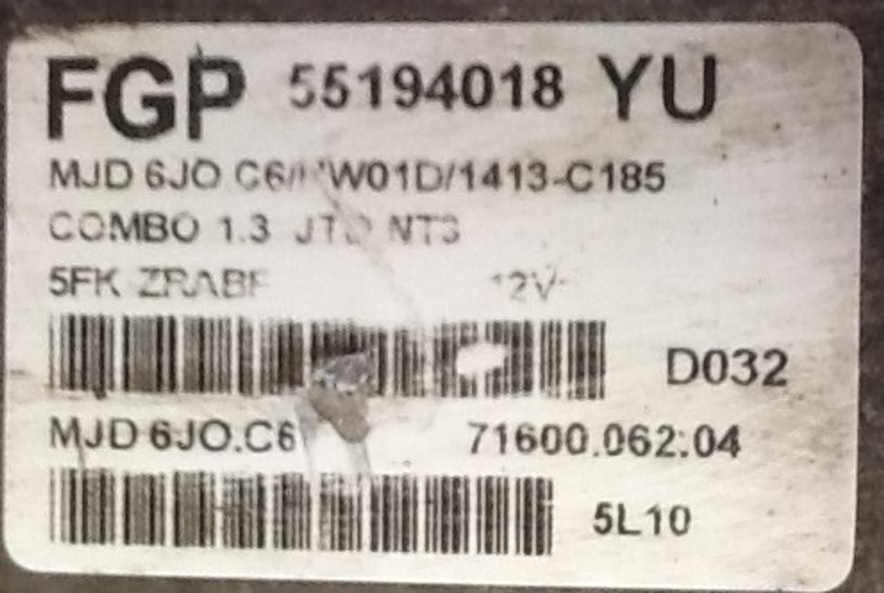Vauxhall/Opel Corsa/Combo 1.3 CDTI MJD 6JO.C6 55194018 71600.062.04 FGP
