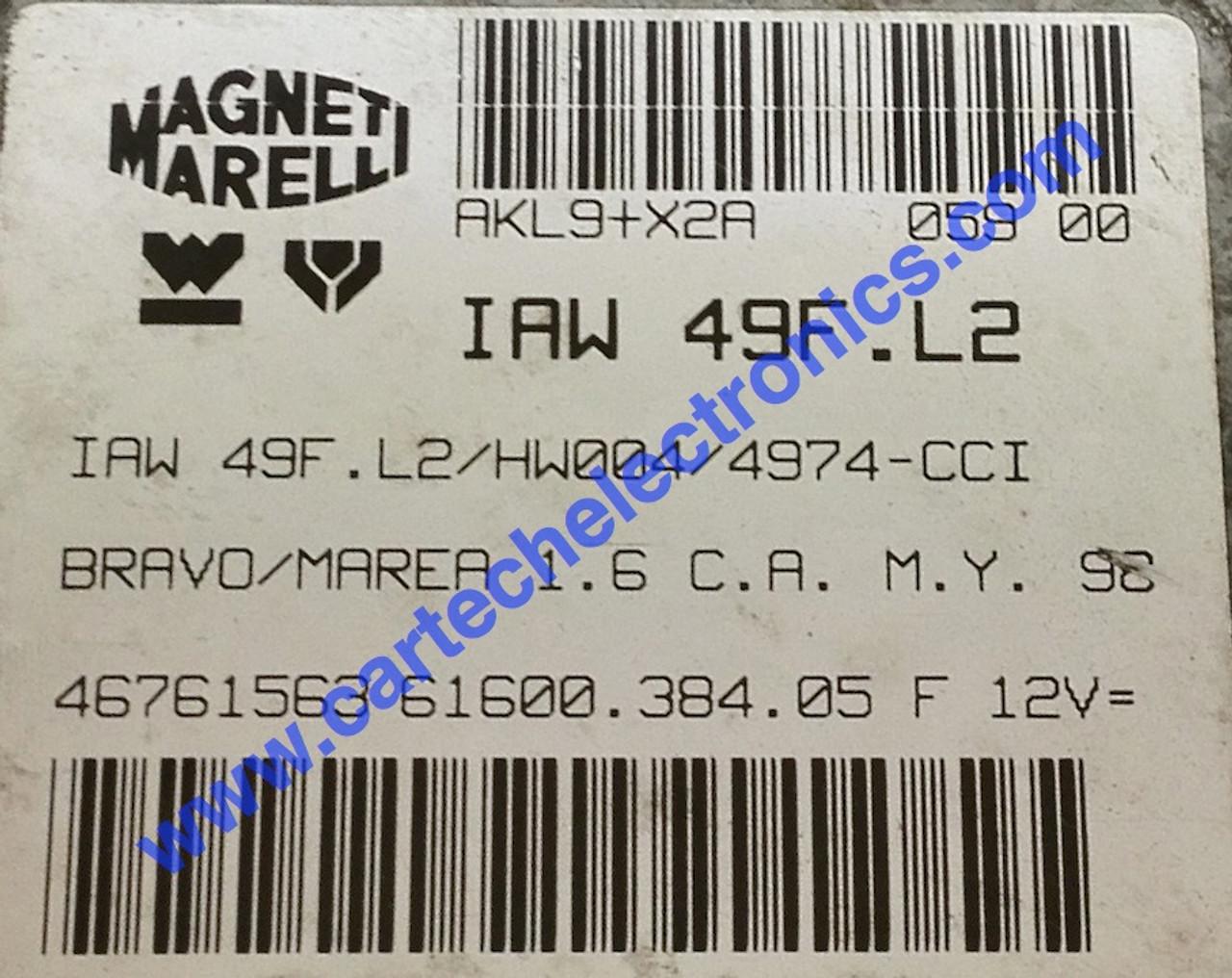 Plug & Play Fiat Engine ECU IAW 49F.L2 61600.384.05
