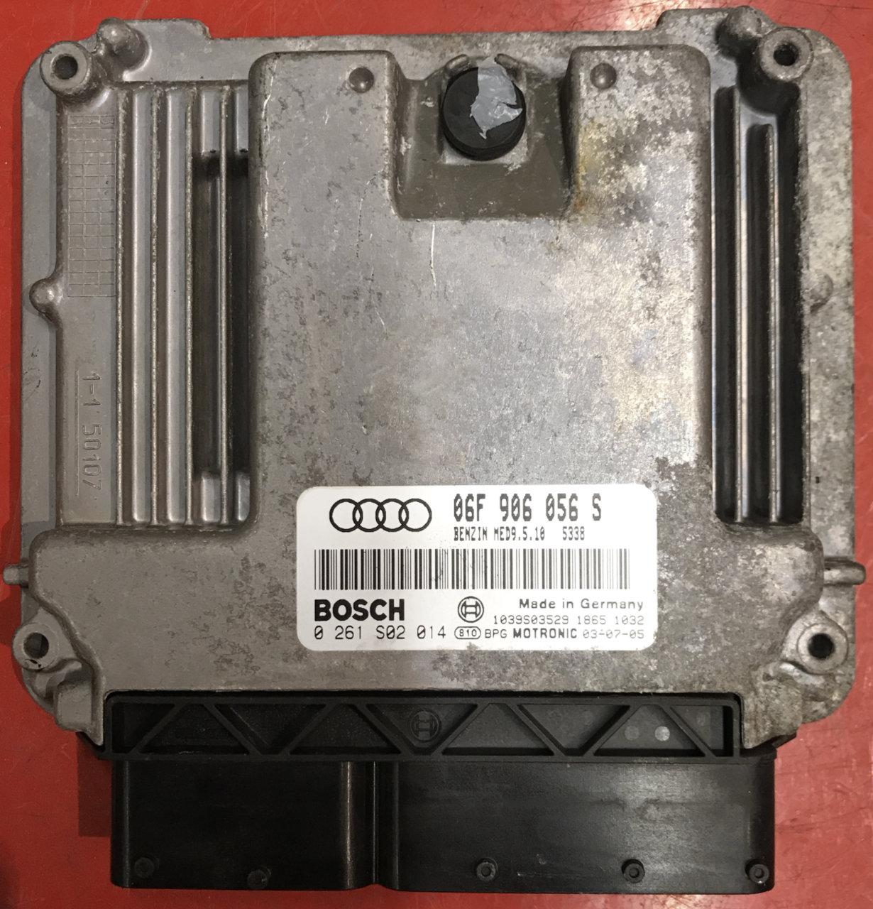 Plug & Play Bosch Engine ECU, Audi 2 0 Fsi 0261S02014, 0 261 S02 014,  06F906056S, 06F 906 056 S, MED9 5 10