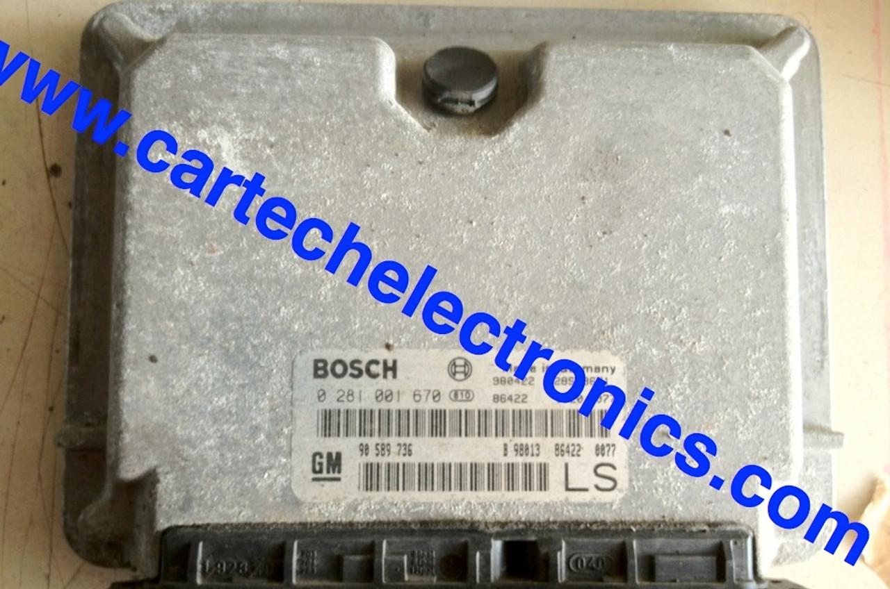 Plug & Play Vauxhall Opel  Engine ECU 0281001670 0 281 001 670 90589736 LS