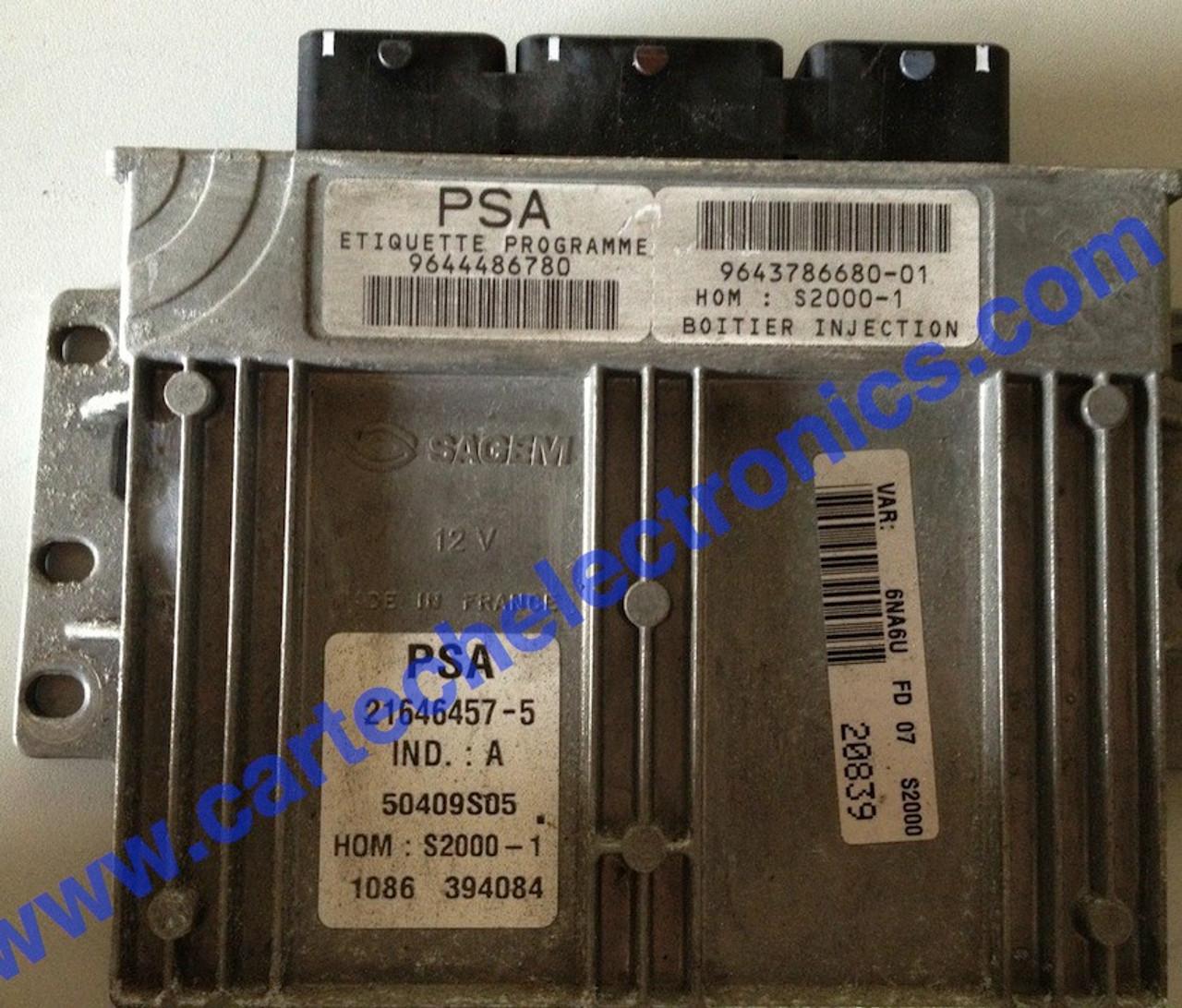PSA S2000-1  9644486780  9643786680-01  21646457-5