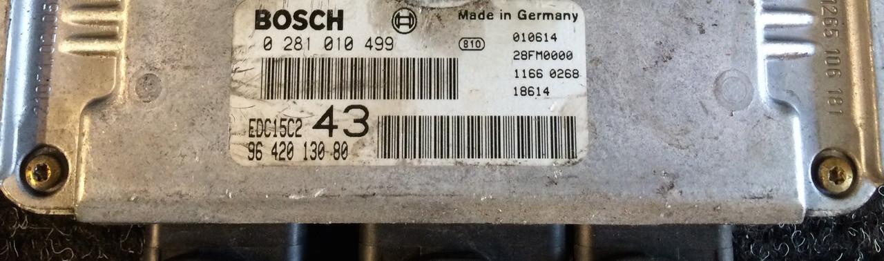 Plug & Play Bosch Engine ECU, HD,I 0281010499, 0 281 010 499, 9642013080, 96 420 130 80, EDC15C2