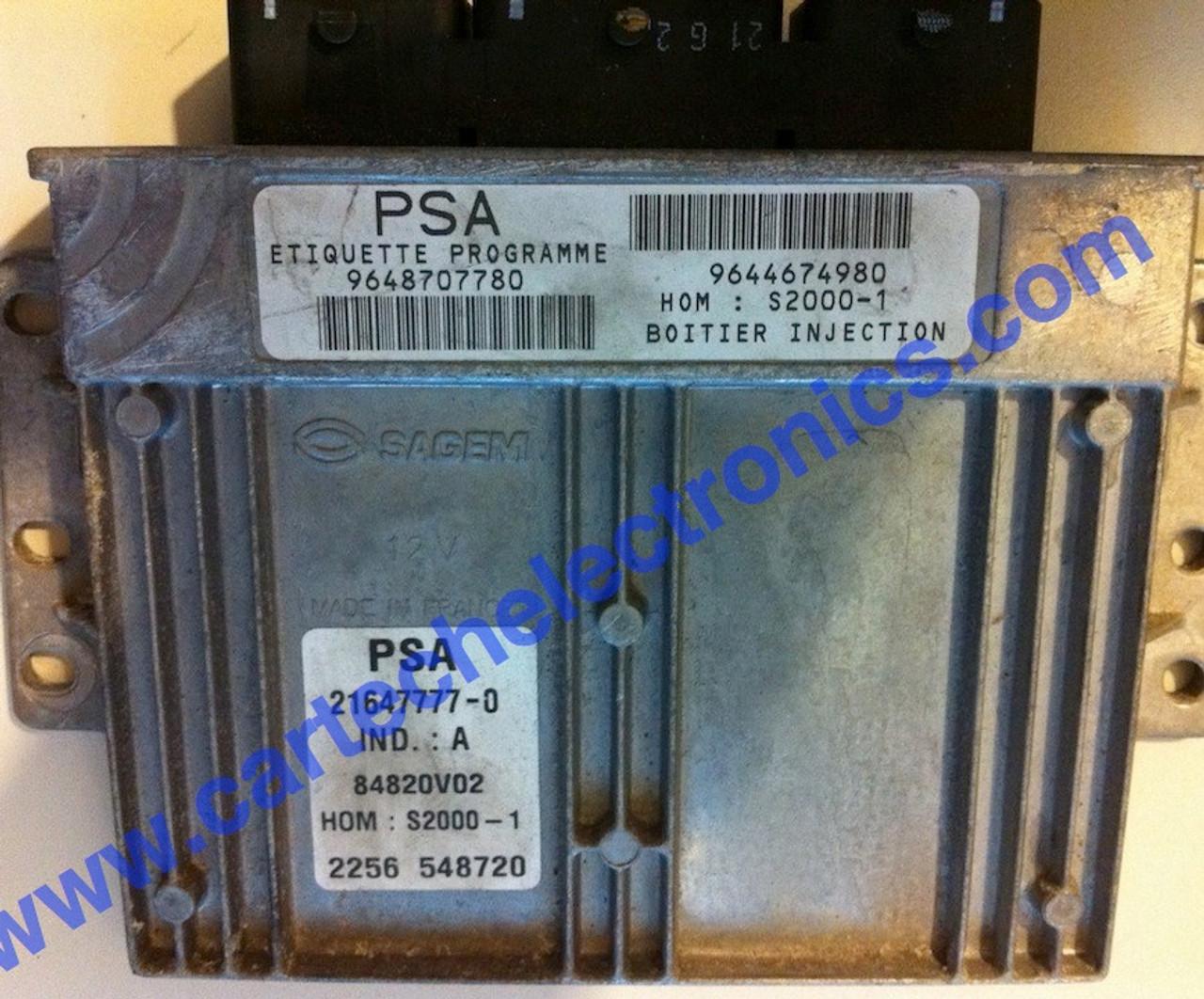 Plug & Play Engine ECU PSA S2000-1 9648707780 9644674980 21647777-0
