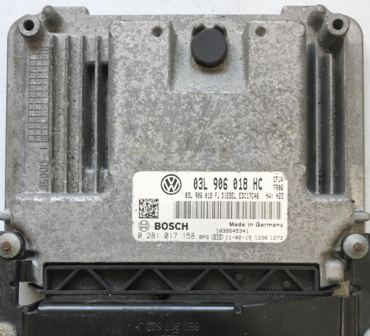 Seat Leon 2.0 TDI, 0281017158, 0 281 017 158, 03L906018HC, 03L 906 018 HC, EDC17C46