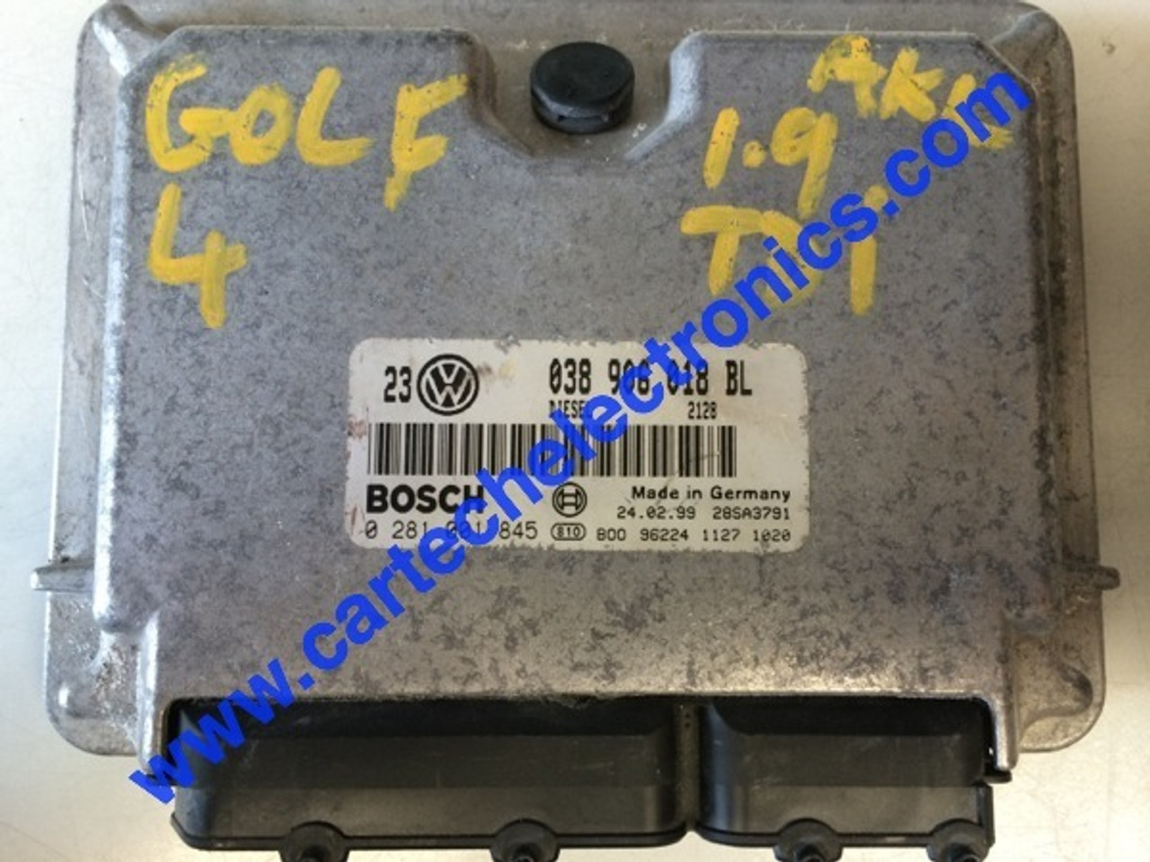Plug & Play Super Chipped, Tuned Bosch Engine ECU, 0281001845, 0 281 001  845, 038906018BL, 038 906 018 BL