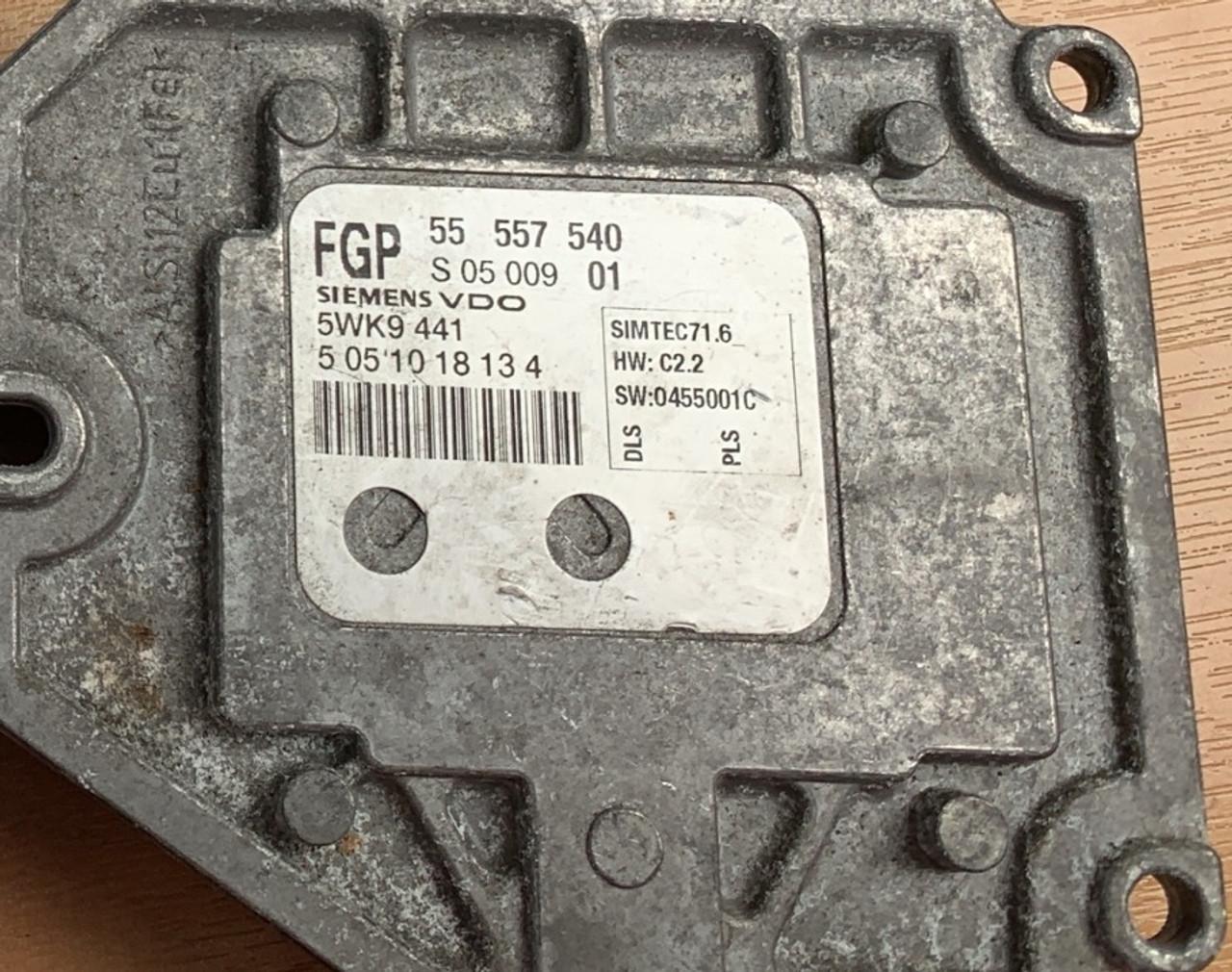 Vauxhall Opel, VECTRA C 1.8L, 55557540, 55 557 540, S0500901, S 05 009 01, 5WK9441, SIMTEC71.6