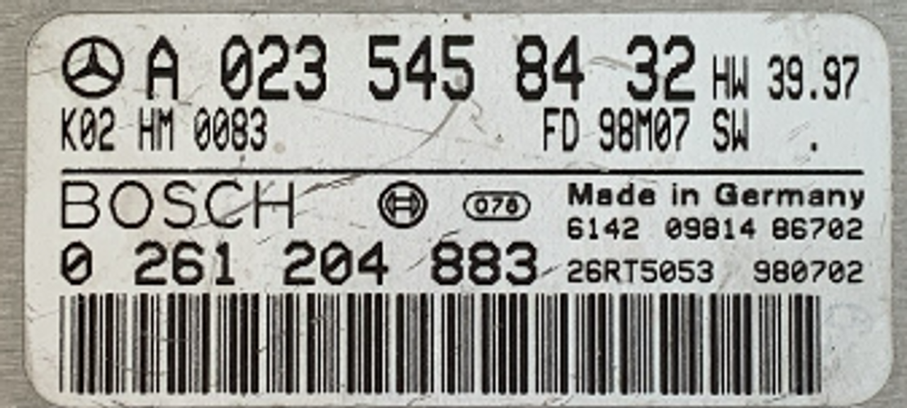 MERCEDES-BENZ, 0 261 204 883, 0261204883, A0235458432, A 023 545 84 32