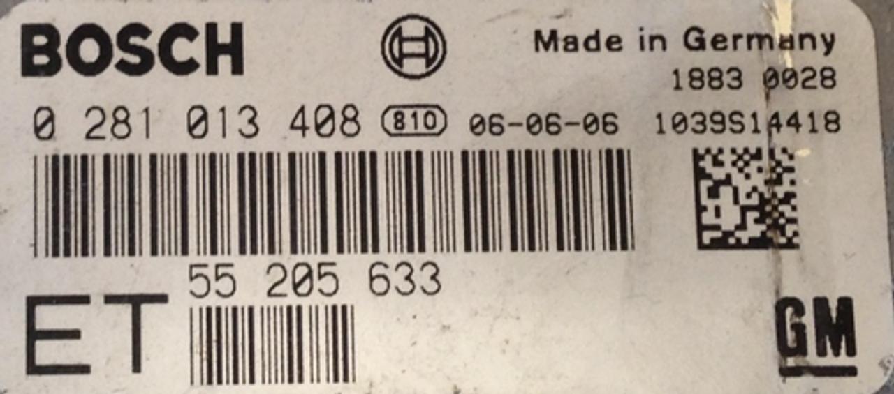 Vauxhall Vectra 1.9D  0281013408  0 281 013 408  55205633  55 205 633 ET