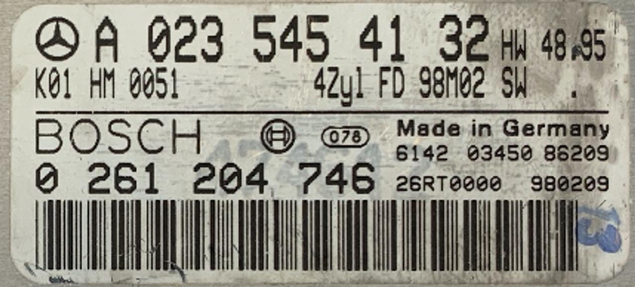 Mercedes-Benz, 0261204746, A0235454132, 0 261 204 746, A 023 545 41 32