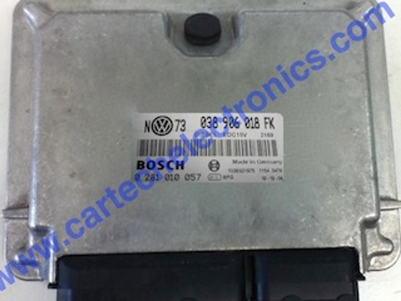 Plug & Play Bosch Engine ECU, VW Caddy, Seat Inca 1.9 TDI, 0281010057, 0 281 010 057, 038906018FK, 038 906 018 FK
