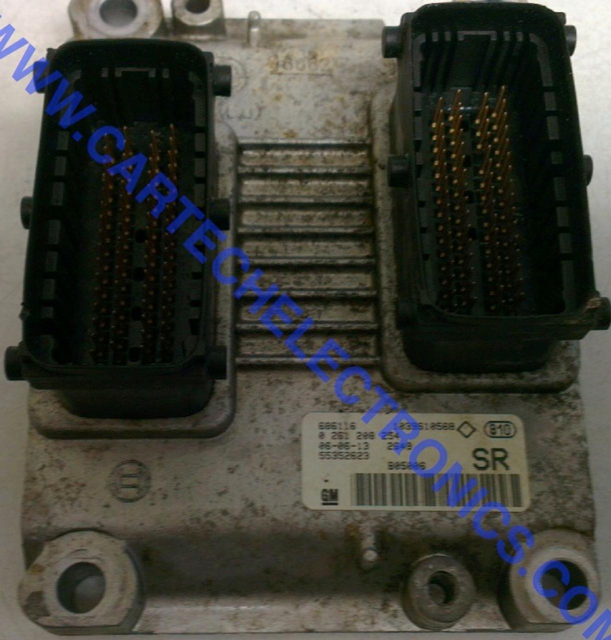 Vauxhall/Opel Corsa Engine ECU  0261208254  0 261 208 254  55352623  SR
