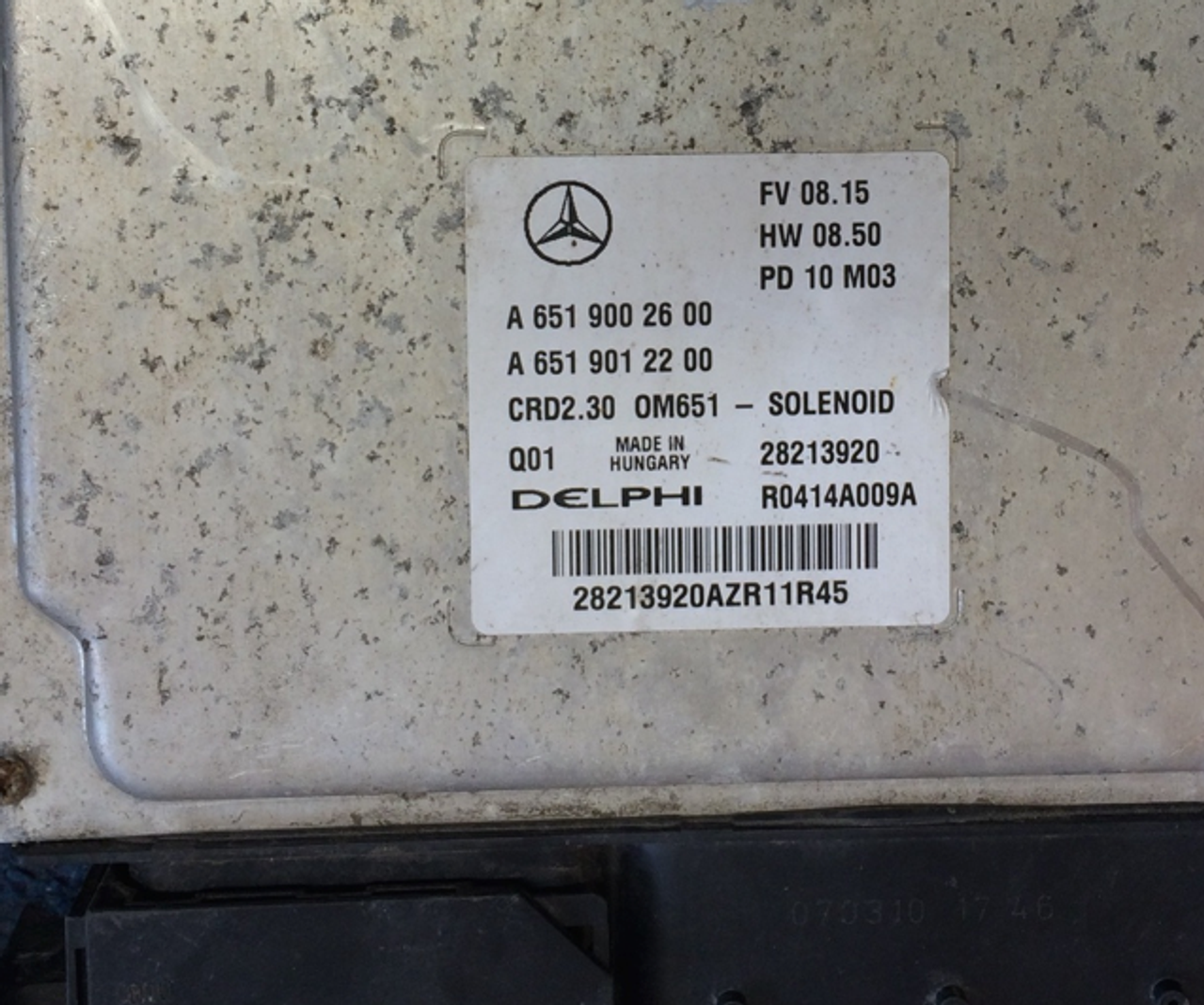 Mercedes-Benz Engine ECU, CRD2 30, OM651, 28213920, A6519002600,  A6519012200, R0414A009A, CRD2 30