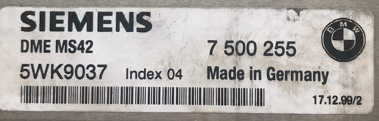 7500255  7 500 255  5WK9037  DME MS42  Index 04