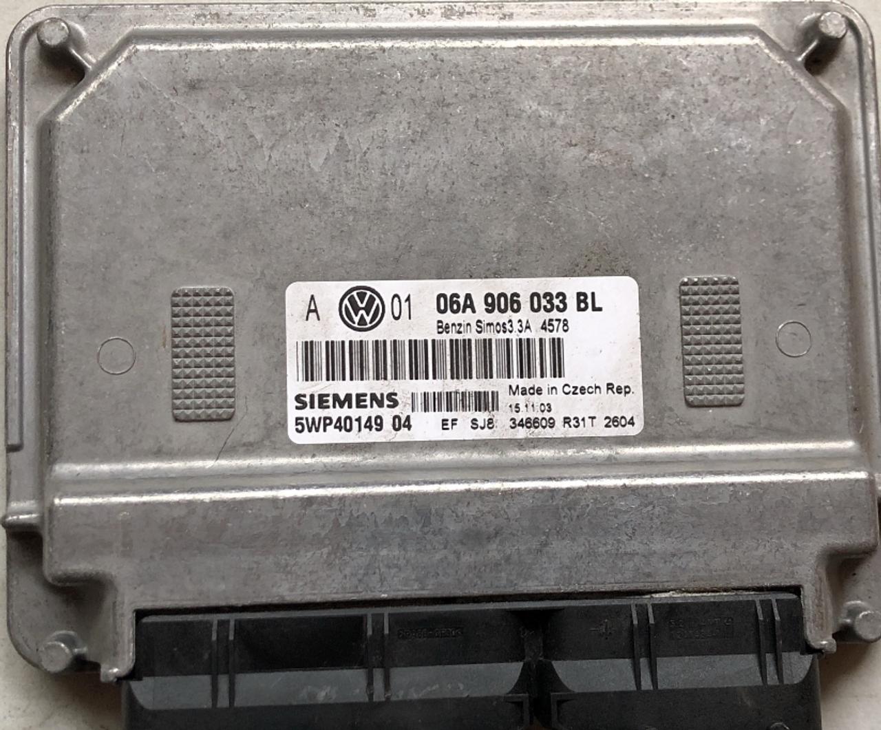 Siemens SIMOS3.3A  06A906033BL  06A 906 033 BL  5WP40149 04