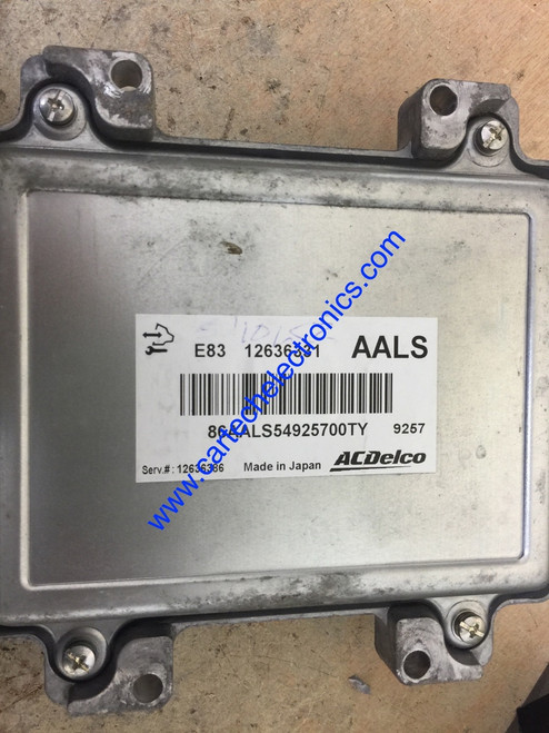 Engine ECU, ACDelco, 12636331, AALS, E83