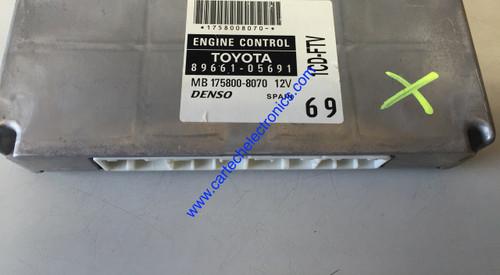 Toyota Avensis T3-S D-4D, 89661-05691, MB 175800-8070, 1CD-FTV