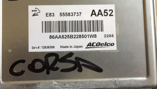 Vauxhall/Opel Corsa D, 55583737, AA52, E83