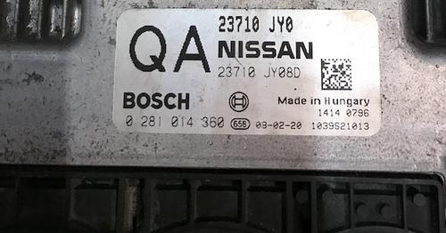 Nissan Koleos 2.0 dCi, 0281014360, 0 281 014 360, 23710JY08D, 23710 JY08D