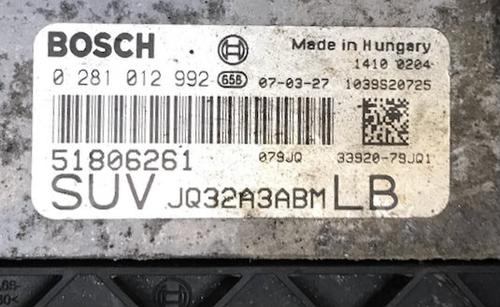 Suzuki SX4 1.9D, Fiat Sedici 1.9JTD, 0281012992, 0 281 012 992, 51806261