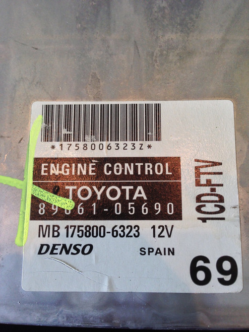 Toyota , 89661-05690, MB175800-6323, 1CD-FTV