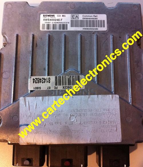 Calculateur décodé XSARA HDI SID 801 5WS40023F-T SW9647166880 HW9644302380