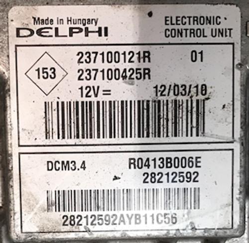 RENAULT MEGANE 1.5 HDI, 237100121R, 237100425R, R0413B006E, 28212592, DCM 3.4