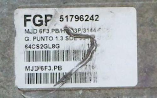 Fiat Punto 1.3, MJD 6F3.PB, 51796242
