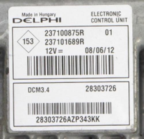 Nissan NV200, 237100875R, 237101689R, 28303726, DCM3.4