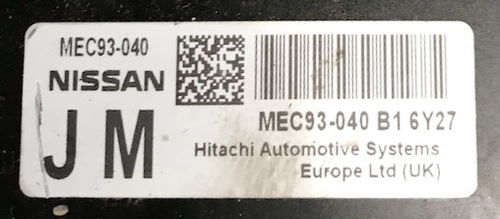 Nissan, MEC93-040 B1, JM