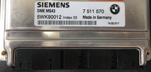 BMW, 7511570, 7 511 570, 5WK90012, Index 03, DME MS43