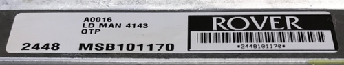 Land Rover Defender TD5, Manual, MSB101170