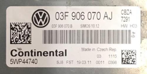 VW/Audi, 03F906070AJ, 03F 906 070 AJ, 5WP44740, SIMOS 10.12