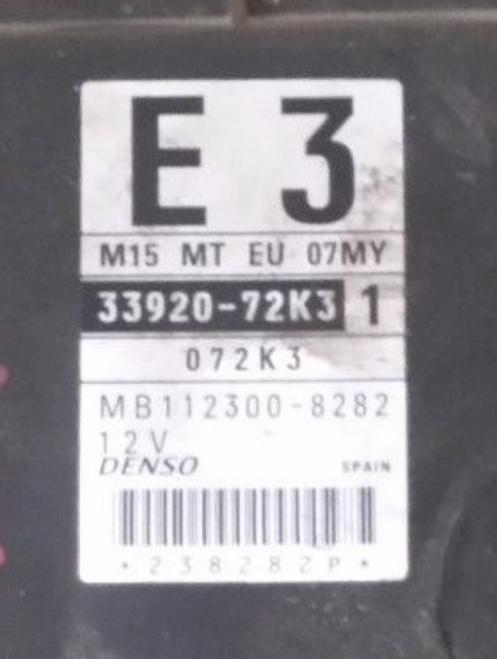 33920-72K3 1 E3, 3392072K3, MB112300-8282, MB1123008282