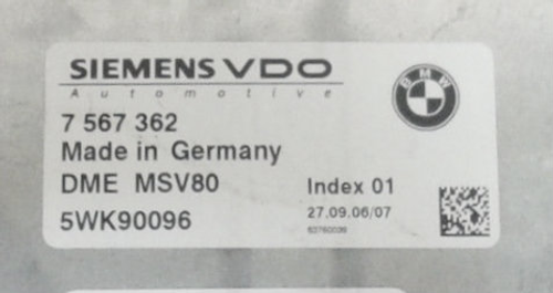 Plug & Play Siemens Engine ECU, BMW, 7574544, 7 574 544, DME MSV80