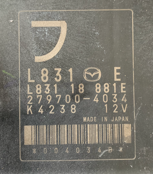 Mazda MX5, 279700-4034, L831 18 881E