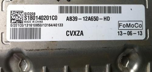 Ford Ranger 2.2, S180140201C0, AB39-12A650-HD, SID208, SID 208