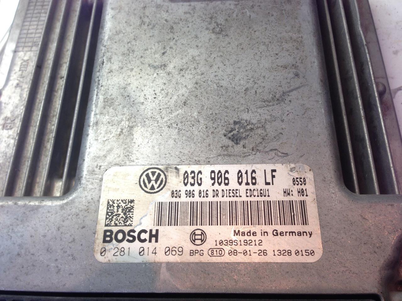 ECU VW CARAVELLE T5 TRANSPORTER 038906016N 0281011855 038 906 016 N