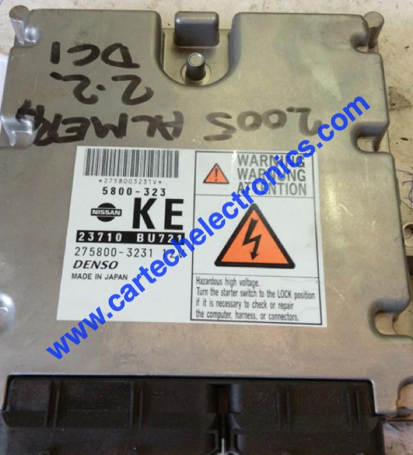 Plug & Play Denso Engine ECU, Almera 2 2 DCI, 23710 BU721, 23710BU721,  275800-3231, KE