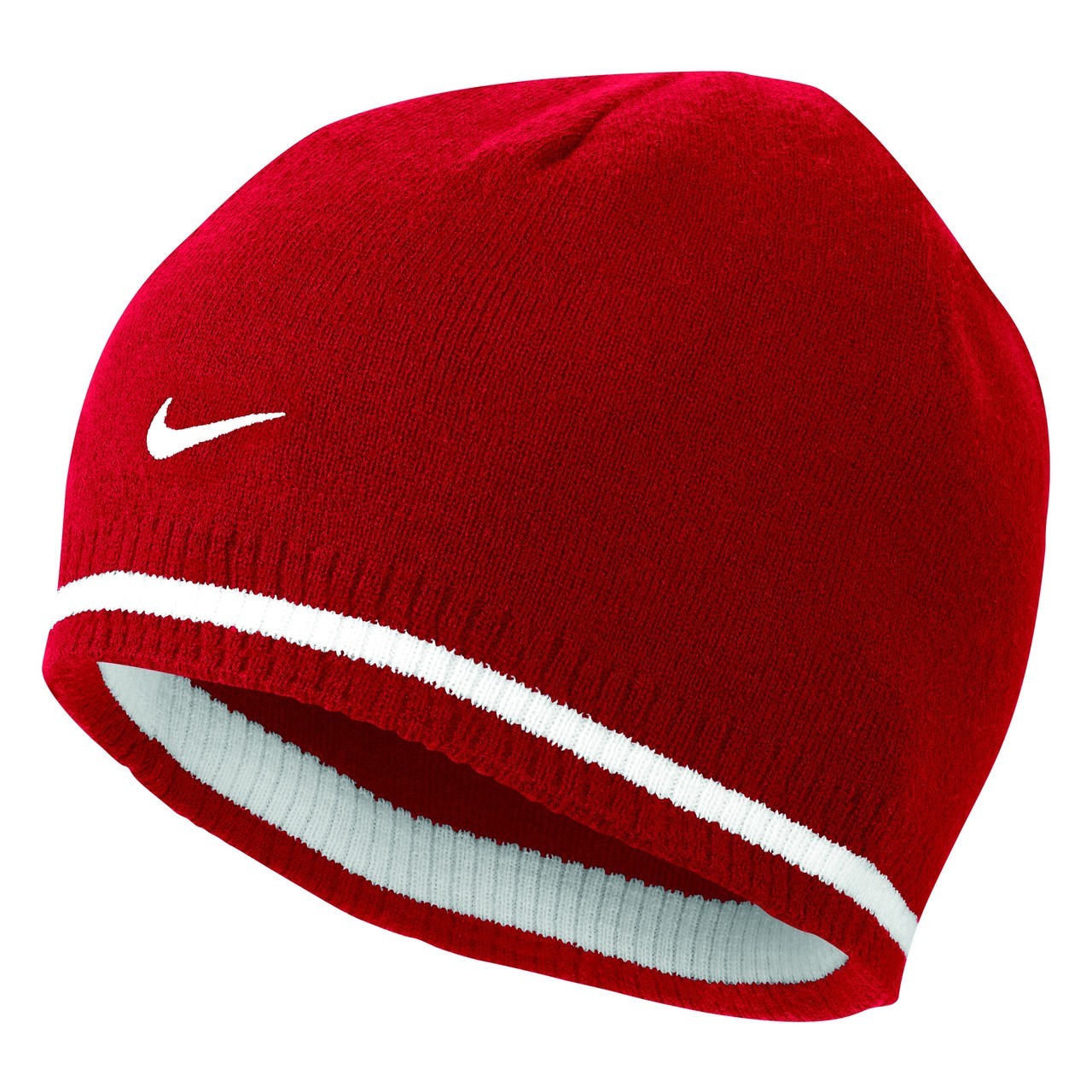 dcbeb6ee CLEARANCE - Nike Cat ID Reversible Beanie - Varsity Red/Sport Red/White ...
