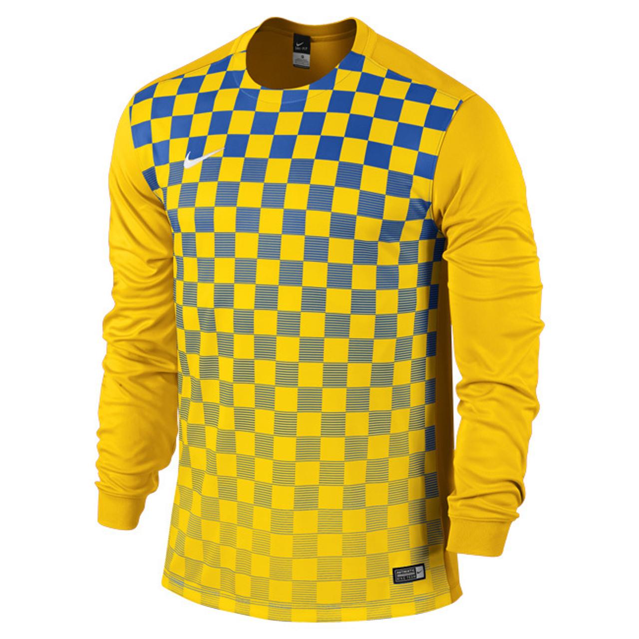 ef6678a04 Nike Precision III Jersey - ADULT Long Sleeve Uni Gold/Royal Blue/White ...