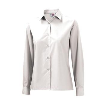 "DL L/Sleeve Girls Blouse 22-34"""