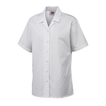 """DL S/Sleeve Girls Revere Blouse 22-34"""""""
