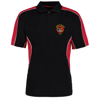 Cowes College CCF Polo Shirt - Black/Red