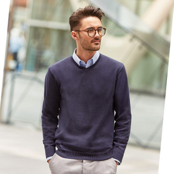 V-Neck Knitted Sweater - MEN'S